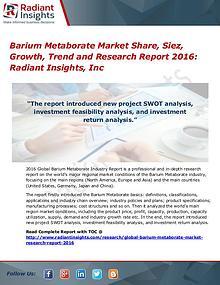 Barium Metaborate Market Share, Siez, Growth, Trend 2016