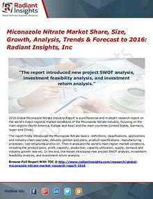 Miconazole Nitrate Market Share, Size, Growth, Analysis, Trends 2016