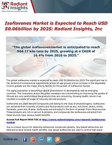 Isoflavones Market is Expected to Reach USD 50.06billion by 2025