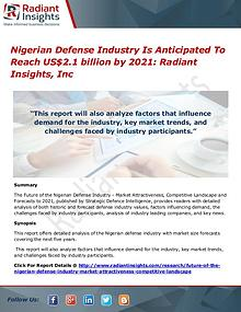 Nigerian Defense Industry Is Anticipated To Reach US$2.1 billion by