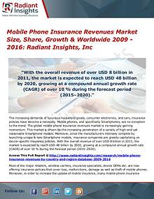 Mobile Phone Insurance Revenues Market Size, Share, Growth