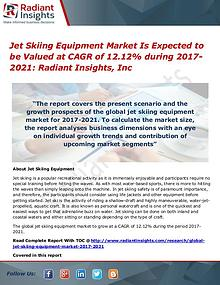 Jet Skiing Equipment Market is Expected to Be Valued at CAGR of 12.12