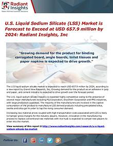 U.S. Liquid Sodium Silicate (LSS) Market is Forecast to Exceed at USD