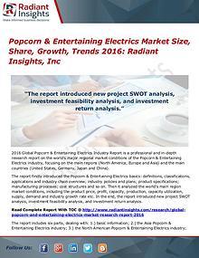 Popcorn & Entertaining Electrics Market Size, Share, Growth, 2016