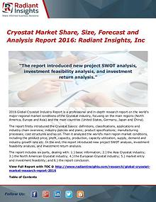 Cryostat Market Share, Size, Forecast and Analysis Report 2016