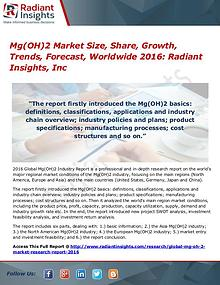 Mg(OH)2 Market Size, Share, Growth, Trends, Forecast, Worldwide 2016