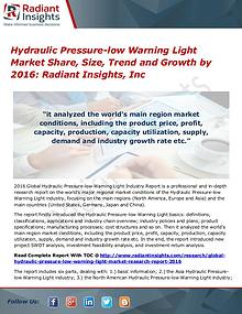 Hydraulic Pressure-low Warning Light Market Share, Size, Trend