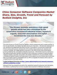 China Consumer Software Companies Market Share, Size, Growth, Trend