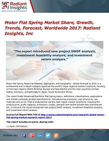 Motor Flat Spring Market Share, Growth, Trends, Forecast, Worldwide