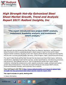 High Strength Hot-dip Galvanized Steel Sheet Market Growth Trend 2017
