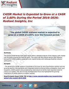 C4ISR Market is Expected to Grow at a CAGR of 2.85% During the Period