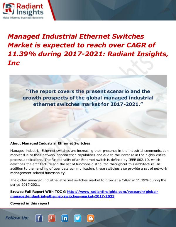 Managed Industrial Ethernet Switches Market Managed Industrial Ethernet Switches Market 2021