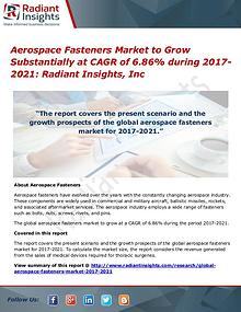 Aerospace Fasteners Market to Grow Substantially at CAGR of 6.86%