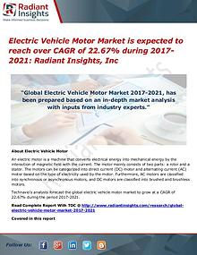Electric Vehicle Motor Market is Expected to Reach Over CAGR of 22.67