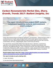 Carbon Nanomaterials Market Size, Share, Growth, Trends 2017