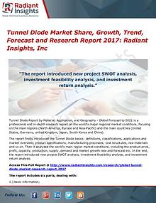Tunnel Diode Market Share, Growth, Trend, Forecast 2017