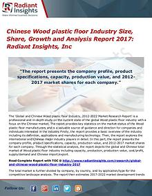 Chinese Wood Planer Industry Share, Size, Growth, AnalysisReport 2017