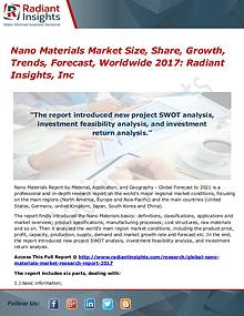 Nano Materials Market Size, Share, Growth, Trends, Forecast 2017
