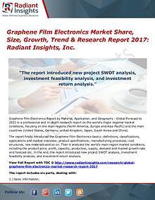 Graphene Film Electronics Market Share, Size, Growth, Trend 2017