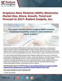 Graphene Nano Platelets (GNPs) Electronics Market Size, Share 2017