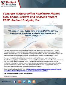 Concrete Waterproofing Admixture Market Size, Share, Growth 2017