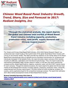 Chinese Wood Based Panel Industry Growth, Trend, Share, Size 2017