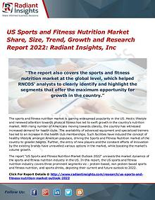 US Sports and Fitness Nutrition Market Share, Size, Trend, Growth2022