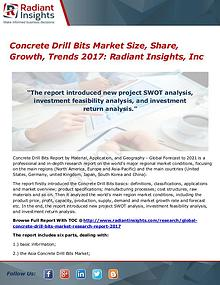Concrete Drill Bits Market Size, Share, Growth, Trends 2017