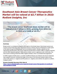 Southeast Asia Breast Cancer Therapeutics Market 2022