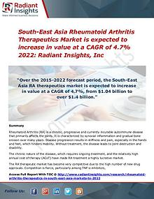 South-East Asia Rheumatoid Arthritis Therapeutics Market 2022