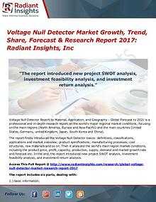 Voltage Detector Market Size, Share, Growth, Trends, Forecast 2017