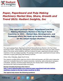 Paper, Paperboard and Pulp Making Machinery Market Size, Share 2017