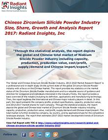 Chinese Zirconium Silicide Powder Industry Size, Share, Growth 2017