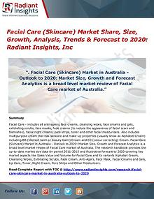 Facial Care (Skincare) Market Share, Size, Growth, Analysis 2017