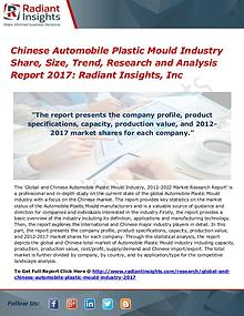 Chinese Automobile Plastic Mould Industry Share, Size, Trend 2017