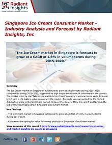 Singapore Ice Cream Consumer Market - Industry Analysis and Forecast