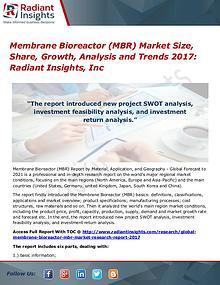 Membrane Bioreactor (MBR) Market Size, Share, Growth, Analysis 2017
