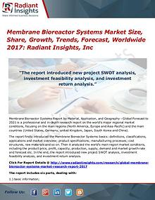 Membrane Bioreactor Systems Market Size, Share, Growth, Trends 2017