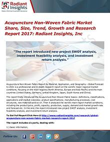 Acupuncture Non-Woven Fabric Market Share, Size, Trend, Growth 2017
