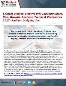 Chinese Medical Electric Drill Industry Share, Size, Growth 2017