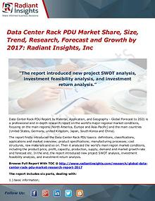Data Center Rack PDU Market Share, Size, Trend, Research 2017