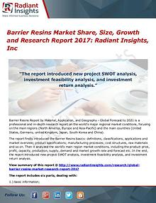 Barrier Resins Market Share, Size, Growth and Research Report 2017