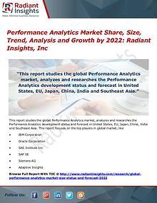 Performance Analytics Market Share, Size, Trend, Analysis 2022