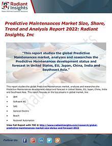 Predictive Maintenances Market Size, Share, Trend 2022