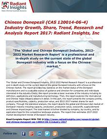 Chinese Donepezil (CAS 120014-06-4) Industry Growth, Share 2017
