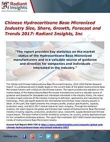 Chinese Hydrocortisone Base Micronized Industry Size, Share 2017
