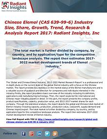 Chinese Elemol (CAS 639-99-6) Industry Size, Share, Growth 2017