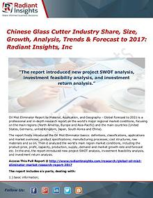 Chinese Glass Cutter Industry Share, Size, Growth, Analysis 2017