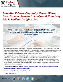 Essential Echocardiography Market Share, Size, Growth, Research 2017
