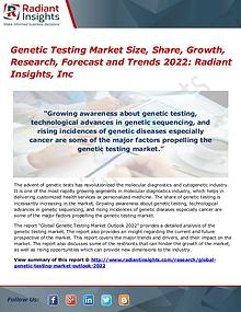 Genetic Testing Market Size, Share, Growth, Research, Forecast 2022
